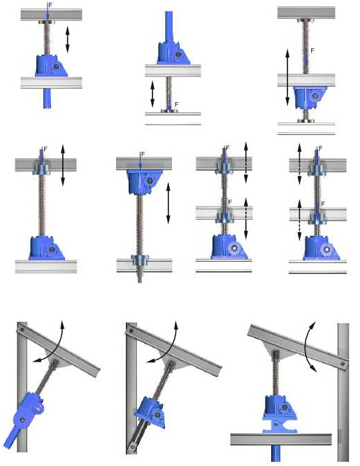 trapezoidal screw jack