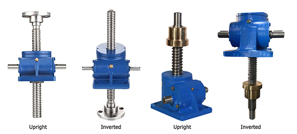upright and inverted screw jack