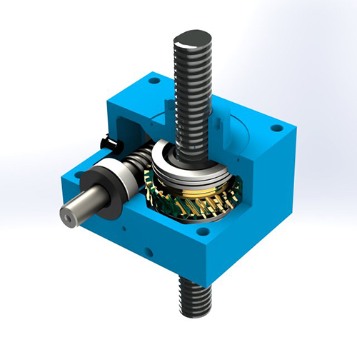small acme screw jack with traveling nut