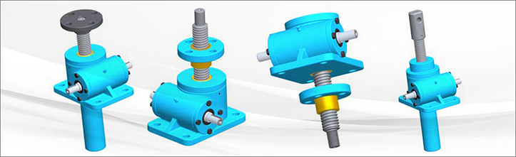 worm gear machine screw jack