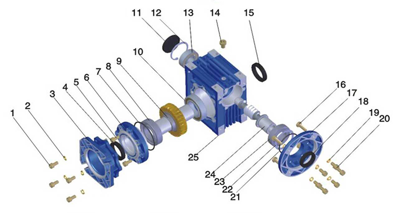 worm screw lift structure diagram