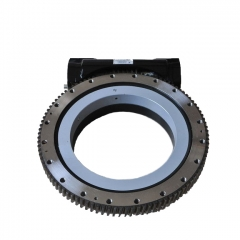 Single Worm Open Housing Slewing Drive