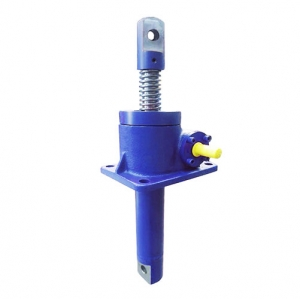 Worm gear screw jack with clevis end