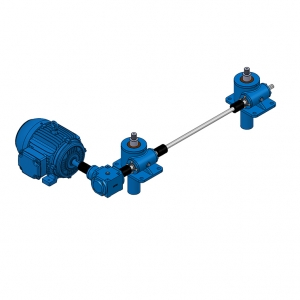 electric worm gear screw jack lift