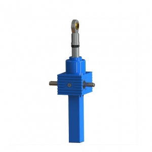 cubic worm gear screw jack of high speed