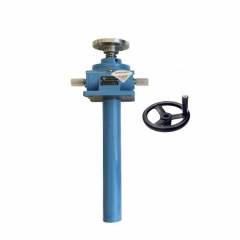 worm screw jack with handle